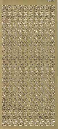 Zier-Sticker-Bogen-5595g-Buchstaben- nur T -gold