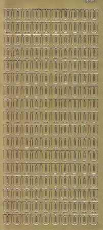 Zier-Sticker-Bogen-Buchstaben- nur U -gold-5600g