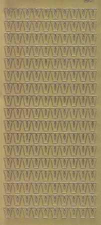 Zier-Sticker-Bogen-Buchstaben- nur V -gold-5605g