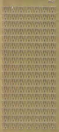 Zier-Sticker-Bogen-Buchstaben- nur W -gold-5610g