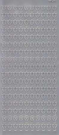 Zier-Sticker-Bogen-5621s-Buchstaben- nur Y -silber