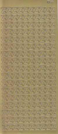 Zier-Sticker-Bogen-5625g-Buchstaben- nur Z -gold