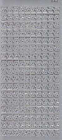 Zier-Sticker-Bogen-5626s-Buchstaben- nur Z -silber