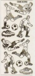 Zier-Sticker-Bogen-Fussballspieler-transparent/gold-5702trg