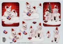 3D Bogen-weihnachtliche Eisbären mit Glimmer-TBZ-579301