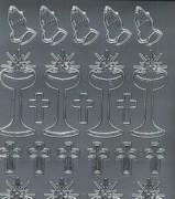 Zier-Sticker-Bogen-Kirchliche Motive-z.B.betende Hände-5999s