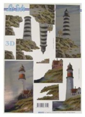 3D Stanzbogen-Metallgravur-LeSuh-600015 -Leuchtturm