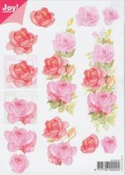 Joy 3D Bogen Rosen - Rot DIN A5-6010-0001