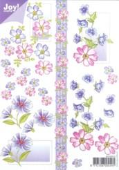 Joy 3D Bogen-6010-0010- Blumen - Violett DIN A5
