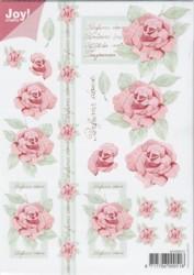 Joy 3D Bogen Rosen - Rosa mit Text DIN A5-6010-0012