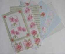 Motiv-Kartenpapier-Joy-blau/grün-120g-8 Bogen-6011-3