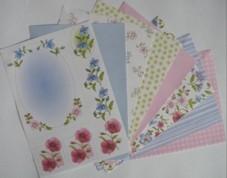 Motiv-Kartenpapier-Joy-blau/rosa-120g-8 Bogen-6011-4