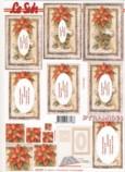 Pyramiden Bogen-Christstern mit Hintergrund-rot-LeSuh-630007
