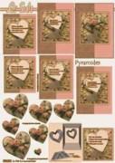 Pyramiden Bogen-Herz/Rosen mit Hintergrund-LeSuh-630023