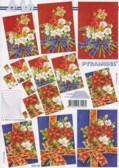 Pyramiden Bogen-Weihnachts-Blumenstrauß-LeSuh-630154