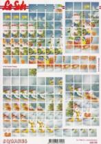 3D Squares Bogen-Schneemänner-LeSuh-630195
