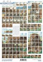 3D Squares Bogen-Löwe-Tiger -LeSuh-630205