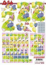 3D Squares/ Etappen-Bogen-2ter Geburtstag-LeSuh-630226