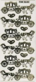 Zier-Sticker-Bogen-Hochzeits-Kutsche/Eheringe-6423trg