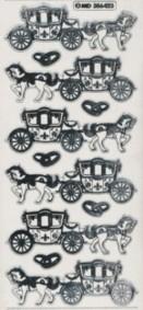 Zier-Sticker-Bogen-Hochzeits-Kutsche/Eheringe-6423trs