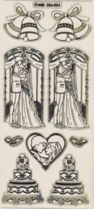 Zier-Sticker-Bogen-Hochzeitstorte-Brautpaar-transparent/gold-6424trg