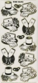 Zier-Sticker-Bogen-verschiedene Hochzeits-Motive-6426trg