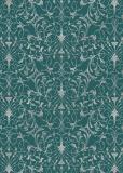 cArt-us Seidenkarton-Folie-silber-filigran Scr.-Blue Lagune-ca.350g/m²-A4-2102