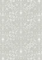 cArt-us Seidenkarton-Folie-silber-filigran Scr.-silbergrau-ca.350g/m²-A4-2103