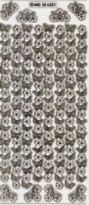 Zier-Sticker-Bogen-Ecken und Ränder-Blumen/Schmetterlinge--transparent/gold-6521trg
