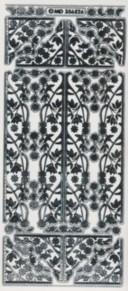 Zier-Sticker-Bogen-Blumenranken-Ecken und Ränder -6526trs