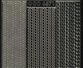 Zier-Sticker-Bogen-6571schwg-verschiedene dünne Linien-Borden-schwarz-gold