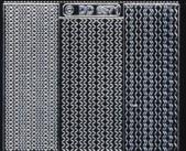 Zier-Sticker-Bogen-6571schws-verschiedene dünne Linien-Borden-schwarz-silber