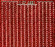 Zier-Sticker-Bogen-dünne Linien-Borden-hologramm/rot-6581ho.r