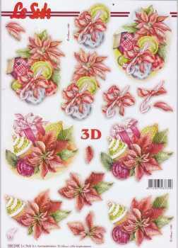 3D Stanzbogen-LeSuh 680046-Weihnachten - Vogelhaus rot