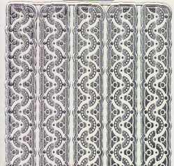 Gravur-Sticker-Bogen-6931trs-Ränder / Bordüren -transparent-silber