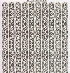 Gravur-Sticker-Bogen-Ränder / Bordüren-6988trg -transparent-gold