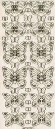 Micro-Glittersticker-Schmetterlinge-transparent/gold-7001Gtrg