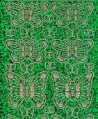 Zier-Sticker-Bogen-Schmetterlinge-holo-grün/gold-7001hogr
