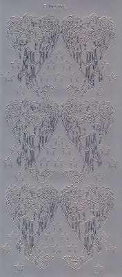 Zier-Sticker-Bogen-Engel-silber-7002s