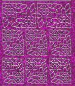 Micro-Glittersticker-Blumenecken-pink/silber-7003gpis