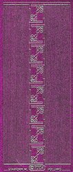 Micro-Glittersticker-kleine Ecken/glatte Ränder-pink/silber-7004gpis