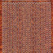 Micro-Glittersticker-Perlen-Ränder-orange/silber-7010gors
