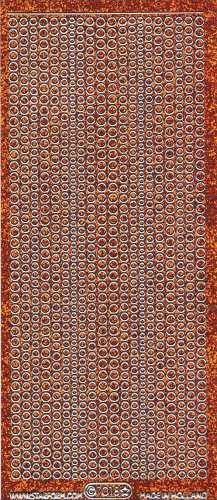 Micro-Glittersticker-kleine Punkte-orange/silber-7018gors