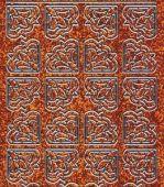 Micro-Glittersticker-Ecken-orange/silber-7025gors