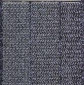 Micro-Glittersticker-Wellen-Ränder-schwarz/silber-7033gschws
