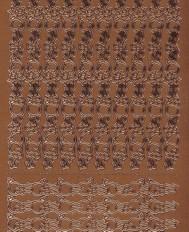 Zier-Sticker-Bogen-Ränder-Kugeln-kupfer-W 7036k