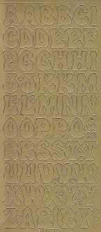 Zier-Sticker-Bogen-7043g-ABC-Buchstaben-gold