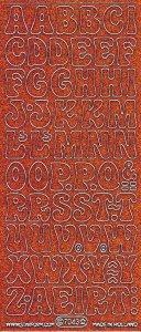 Micro-Glittersticker-ABC-Buchstaben-orange/silber-7043gors