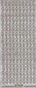 Micro-Glittersticker-Blumenränder-silber/gold-7046gsg