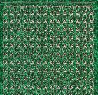 Micro-Glittersticker-Blätter / Ränder-grün/gold-7051ggrg